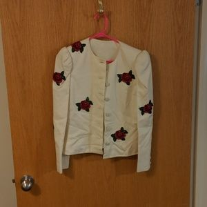 Vintage Saks Fifth Ave embellished jacket